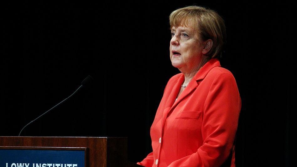 Rede in Sydney: Kanzlerin Angela Merkel