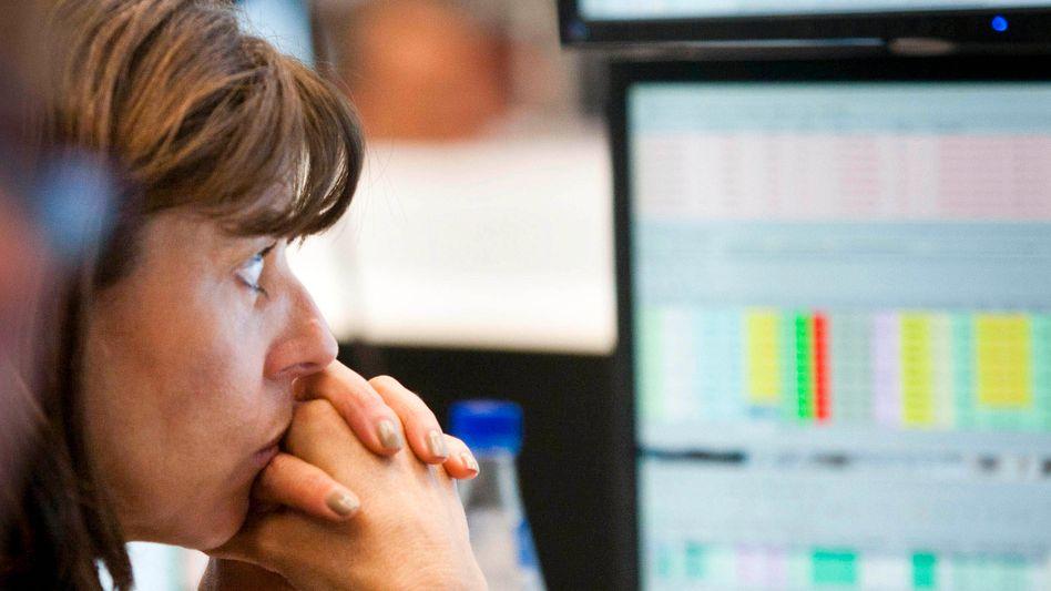 Händlerin an der Deutschen Börse: Der Dax bleibt im Aufwärtstrend