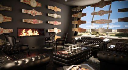 Cocooning für Raucher:Die Zino Platinum Cigar Lounge, hier eine Simulation, soll 15 Sitzplätze für Zigarrenliebhaber bieten
