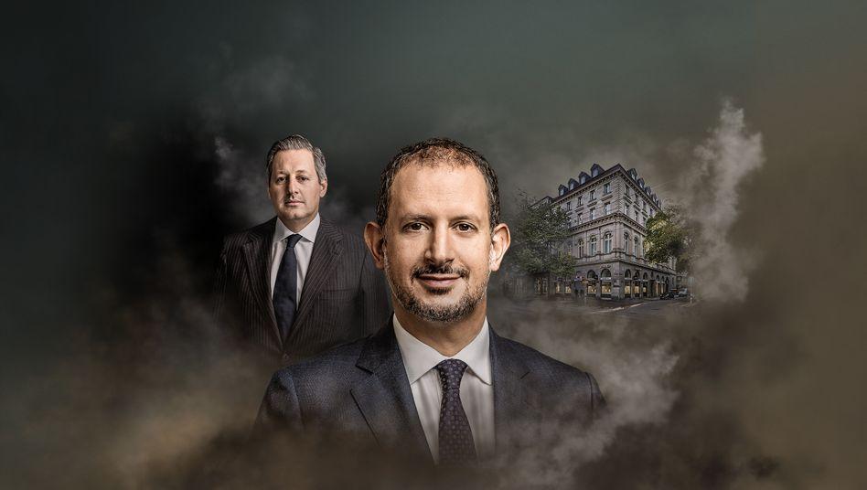 Auf Pump: Boris Collardi (l.) blähte die Züricher Privatbank auf, der heutige Chef Philipp Rickenbacher muss die Luft kontrolliert ablassen