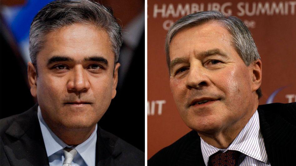 Die neue Doppelspitze: Anshu Jain (l.) und Jürgen Fitschen werden ab Mai 2012 die Deutsche Bank führen