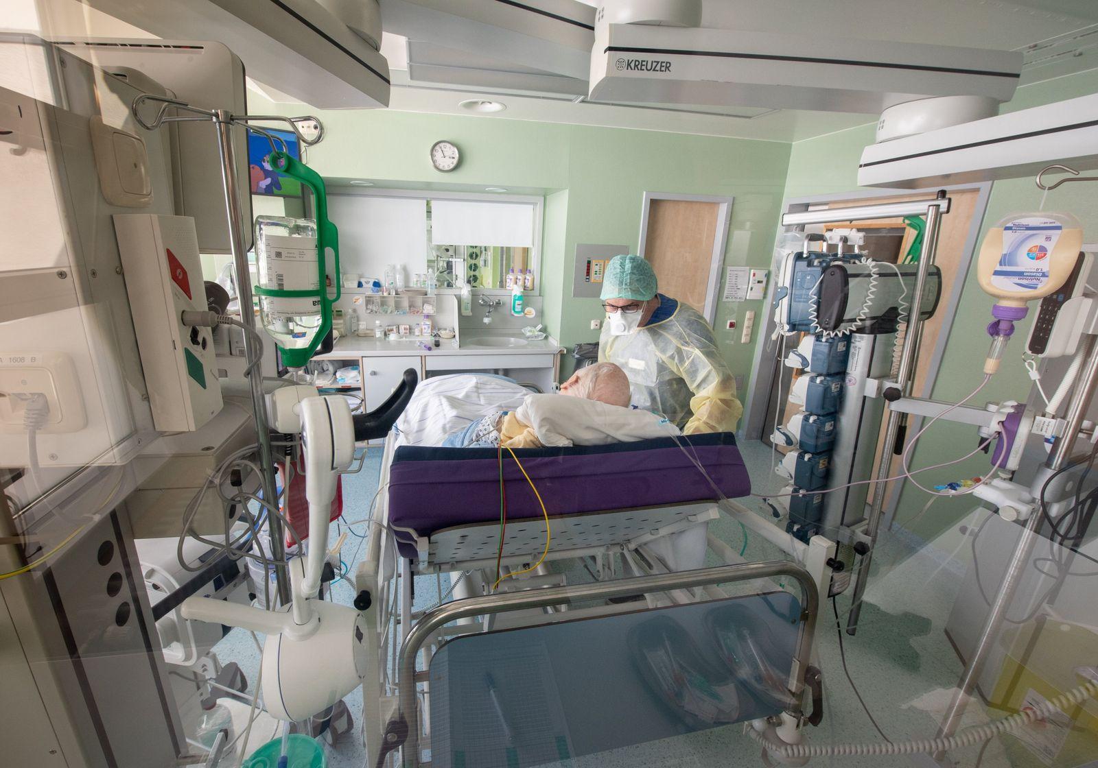 Patientenrückgang in Kliniken