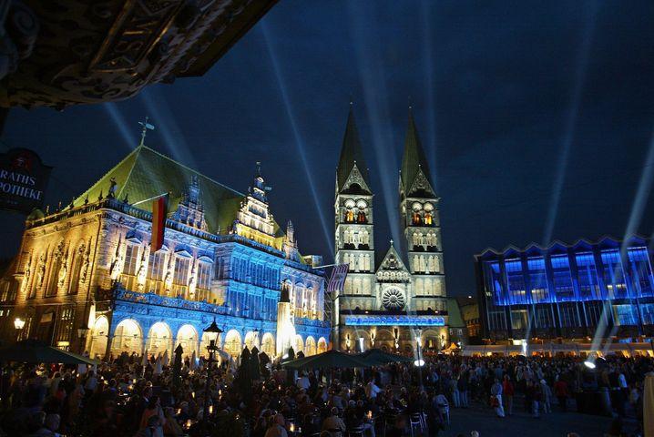 Bremer Markt mit Rathaus und Dom