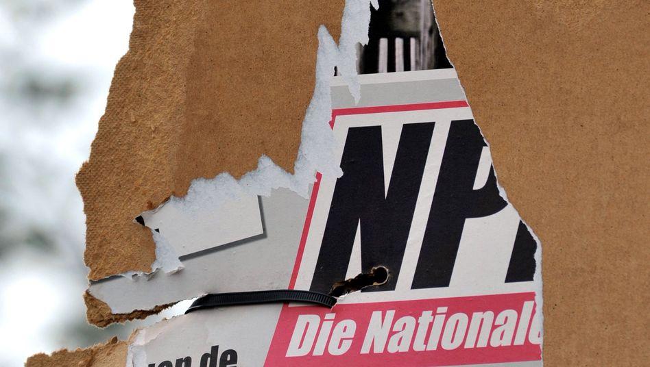 NPD-Plakat: Auch Grüne hegen Zweifel am Erfolg eines Verbotsverfahren