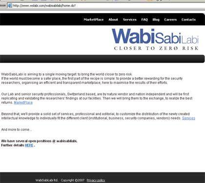 """""""Closer to zero risk"""": Auf dem Portal Wabisabilabi können Sicherheitslücken ersteigert werden"""