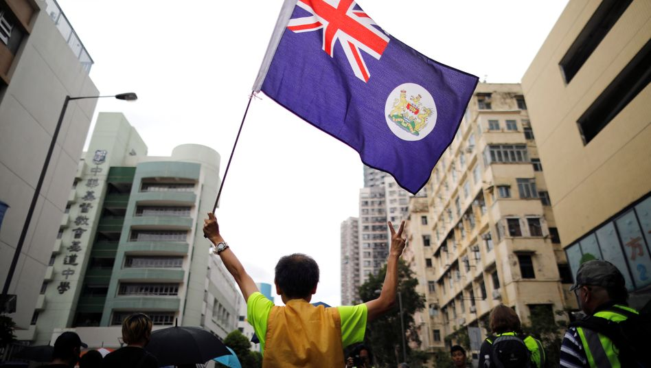 Alte Kolonialflagge von Hongkong: Viele fürchten um die Sonderrechte, die Hongkong noch bis 2047 genießt