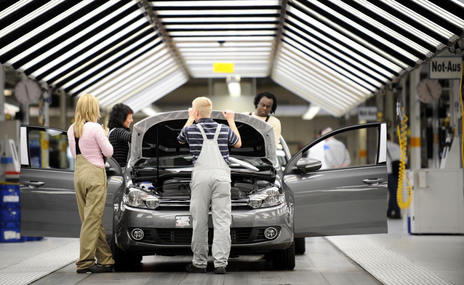 Leiharbeiter / Auto-Industrie VW