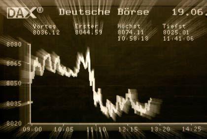 Konjunktur läuft, Unternehmensgewinne steigen, Aktienkurse fallen: Deutsche Börse