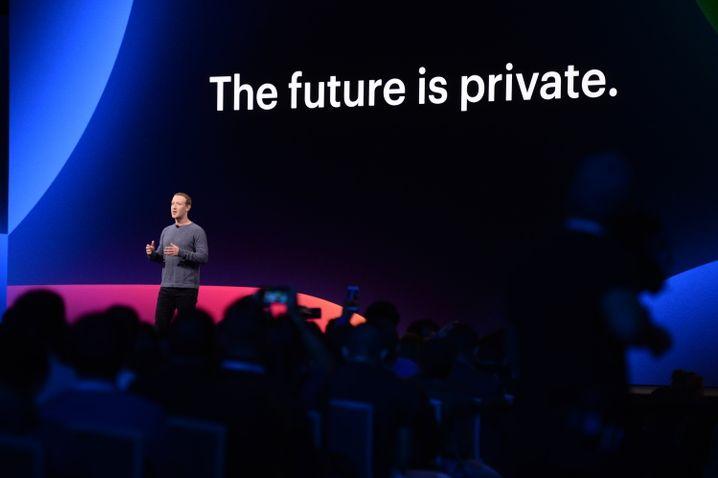 Facebook-Chef Mark Zuckerberg auf Entwicklerkonferenz