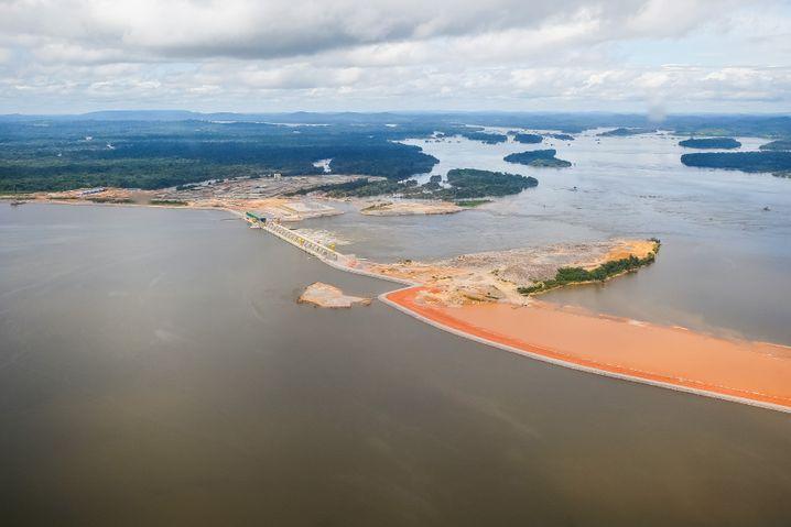 Gerade noch unter Rousseffs Augen fertig geworden: Das Mega-Wasserkraftwerk Belo Monte