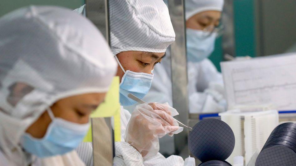 Produktion beim Halbleiterhersteller Jiejie in Nantong: Heimische Börsengänge statt Listing an der Nasdaq