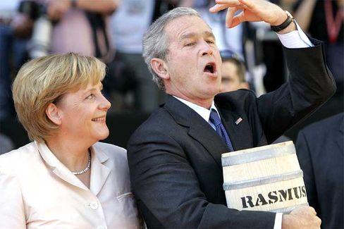 Bismarckheringe für Bush: Der US-Präsident bedankte sich mit lobenden Worten