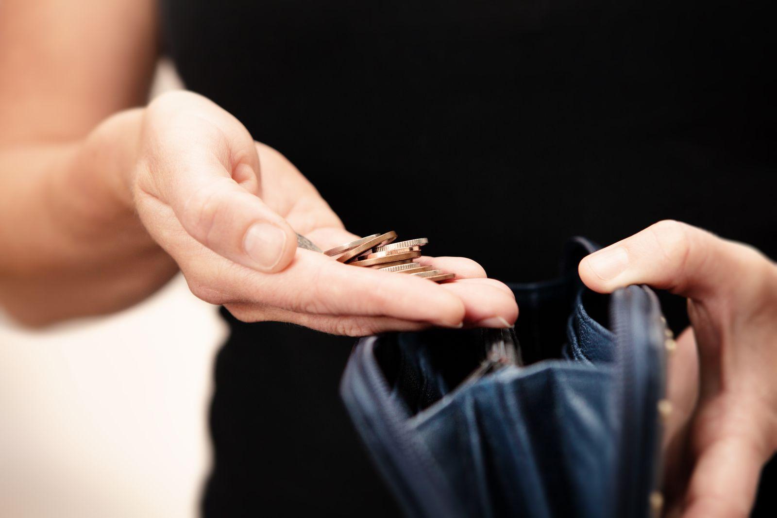EINMALIGE VERWENDUNG Gehalt / Geldbeutel / Abrechnung