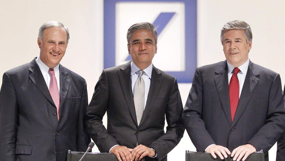 Anshu Jain, Josef Ackermann: Im Abschlussbericht der Bafin werden der scheidende wie auch der ehemalige Chef der Deutschen Bank kritisiert