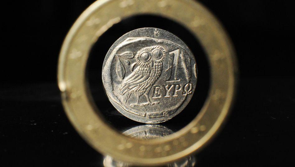 Griechische Euro-Münze: Panik in Resteuropa, Gleichmut in Deutschland