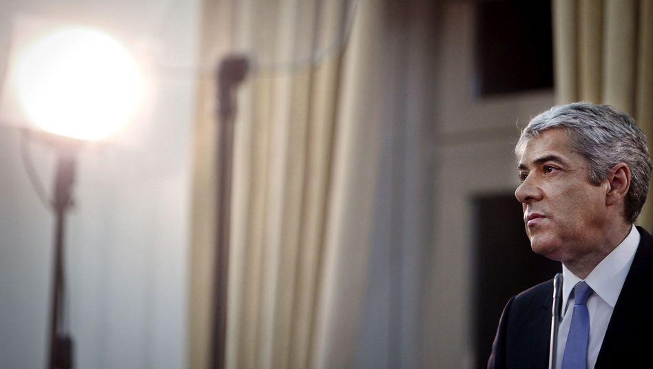 Portugals geschäftsführender Premierminister José Sócrates: Inländische Banken gehen auf Distanz zum eigenen Staat