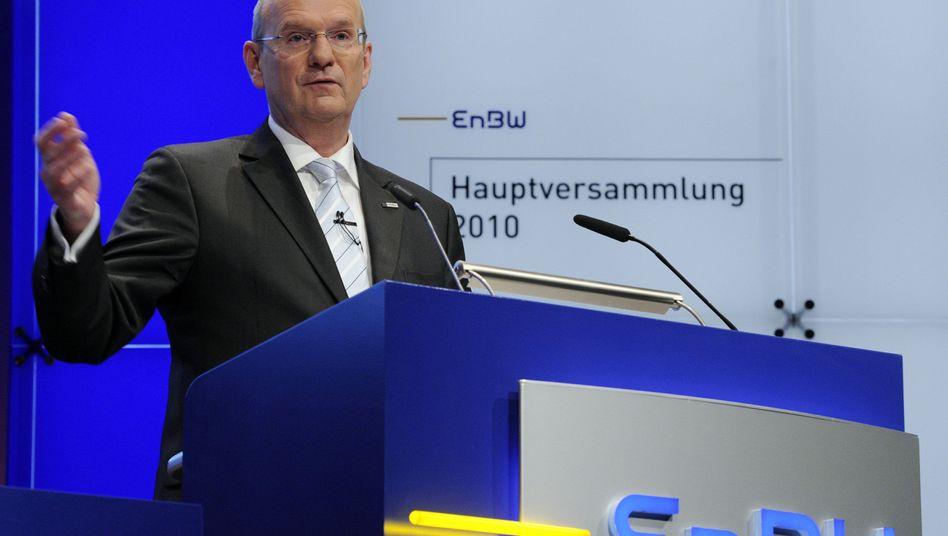 Schmeißt hin: EnBW-Chef Hans-Peter Villis steht nach dem Auslaufen seines Vertrags dem Konzern nicht mehr zur Verfügung