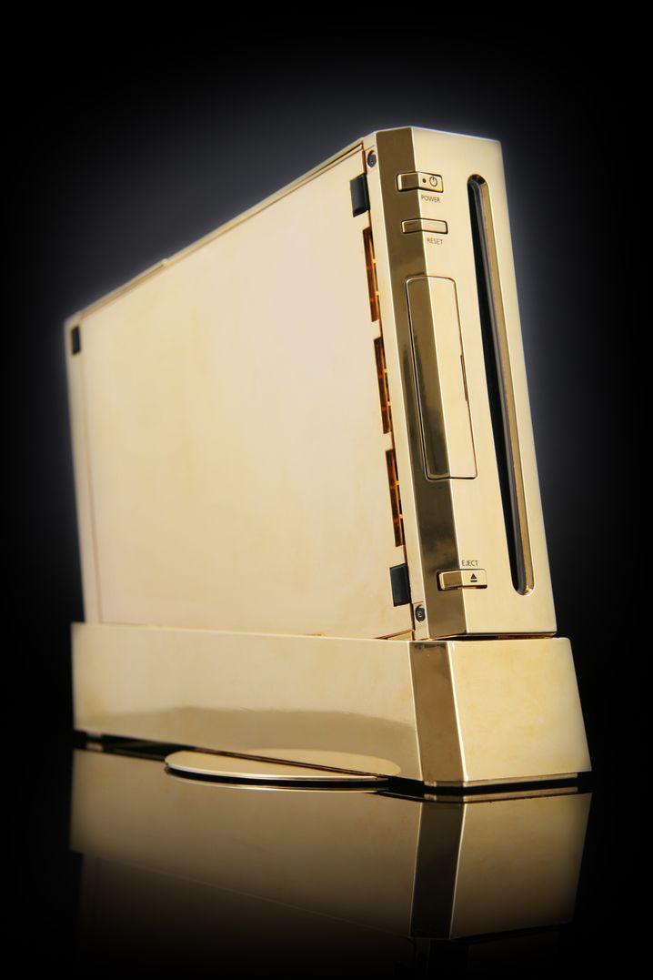 ... und auch eine Spielkonsole kann mit einer ansprechenden Goldbeschichtung einfach goldener aussehen.