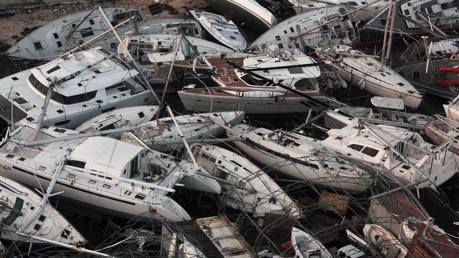 Spur der Verwüstung: Mehrere Wirbelstürme haben im Herbst in der Karibik enorme Schäden angerichtet und rissen damit auch riesige Löcher in die Bilanzen der Rückversicherer