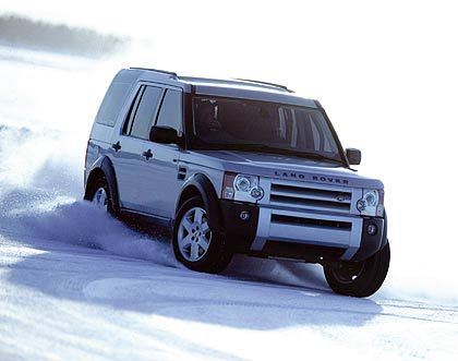 Auto für Bärentöter: Der Land Rover im Wintereinsatz