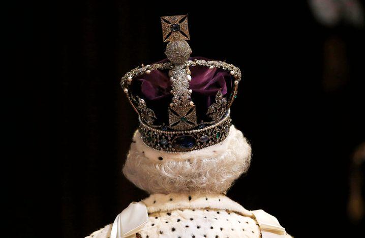 Die Königin im Parlament (Archivaufnahme von 2015)