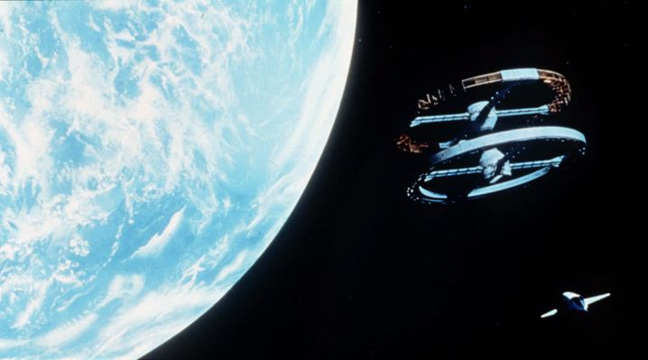 "Ikone des Science-Fiction-Films: Szene aus Stanley Kubricks ""2001: A Space Odyssey"" von 1968"