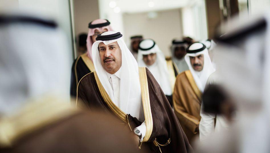 In der arabischen Welt gut vernetzt: Deutsche-Bank-Großaktionär Hamad Bin Jassim (im Bild von 2012 als katarischer Premier im Golfkooperationsrat)
