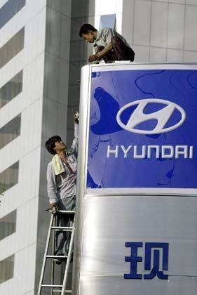 Im Schlepptau der Japaner: Hyundai hat sich das ehrgeizige Ziel gesetzt, bis 2010 unter den Top Five der Autohersteller der Welt zu stehen
