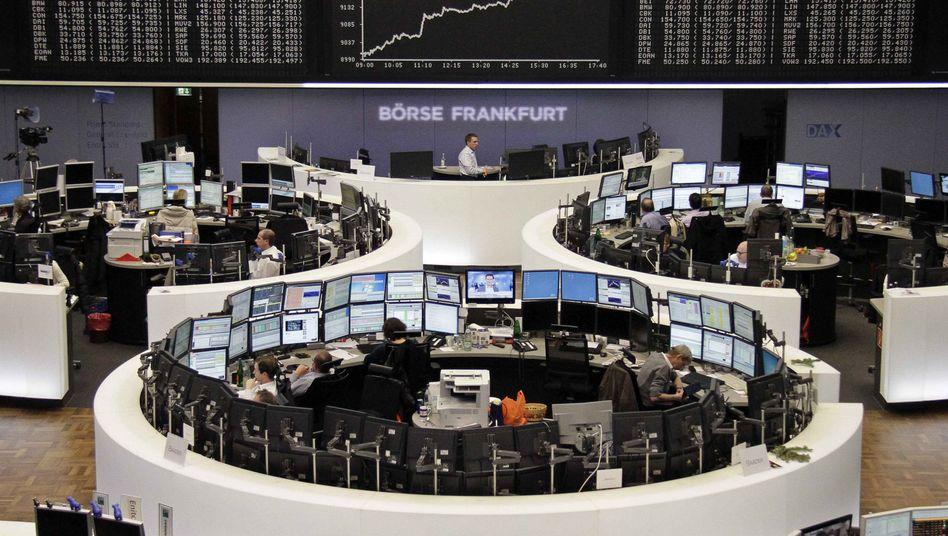 Handelssaal der Börse Frankfurt: Eine Aktion der EZB könnte wahrscheinlicher werden