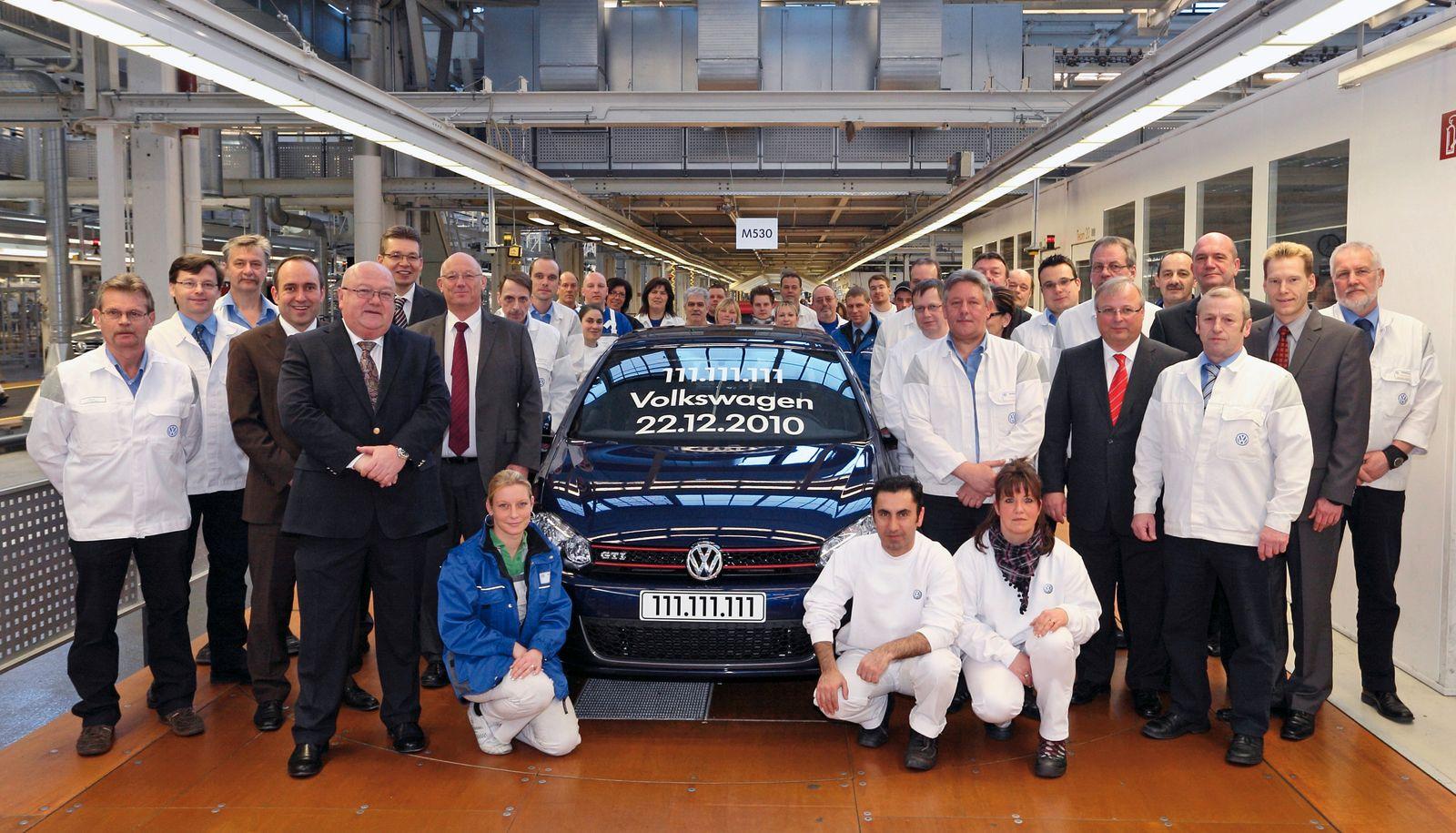 Volkswagen produziert das 111.111.111ste Fahrzeug / VW Golf