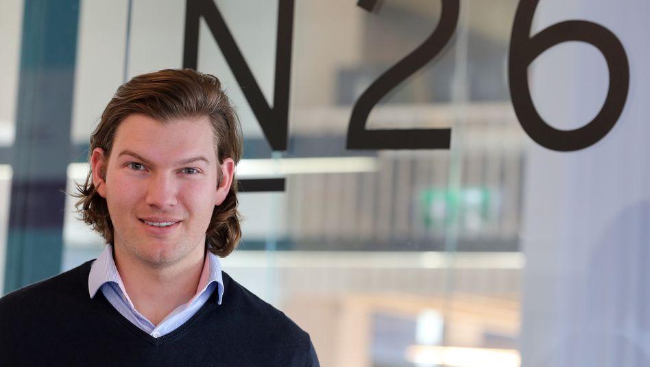 Valentin Stalf (33), Gründer und CEO der digitalen Bank N26 - die es inzwischen auf eine Milliardenbewertung bringt