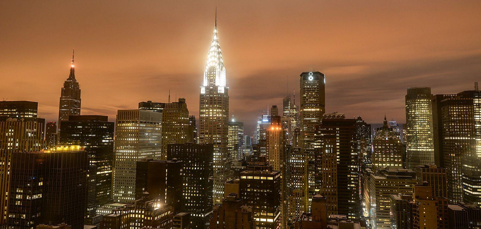 Schneefall in New York - Skyline