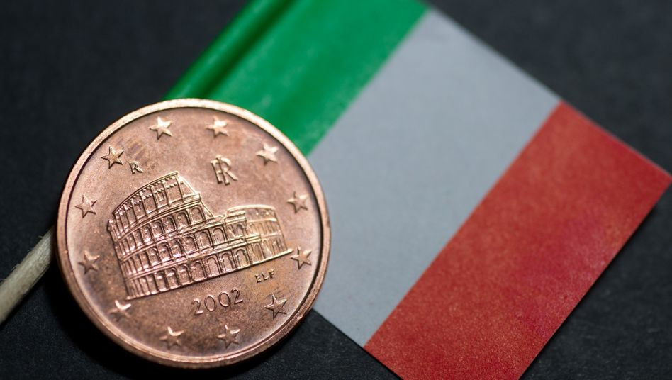 In ähnlich baufälligem Zustand wie das Colosseum auf der Euro-Centmünze sind auch Italiens Staatsfinanzen