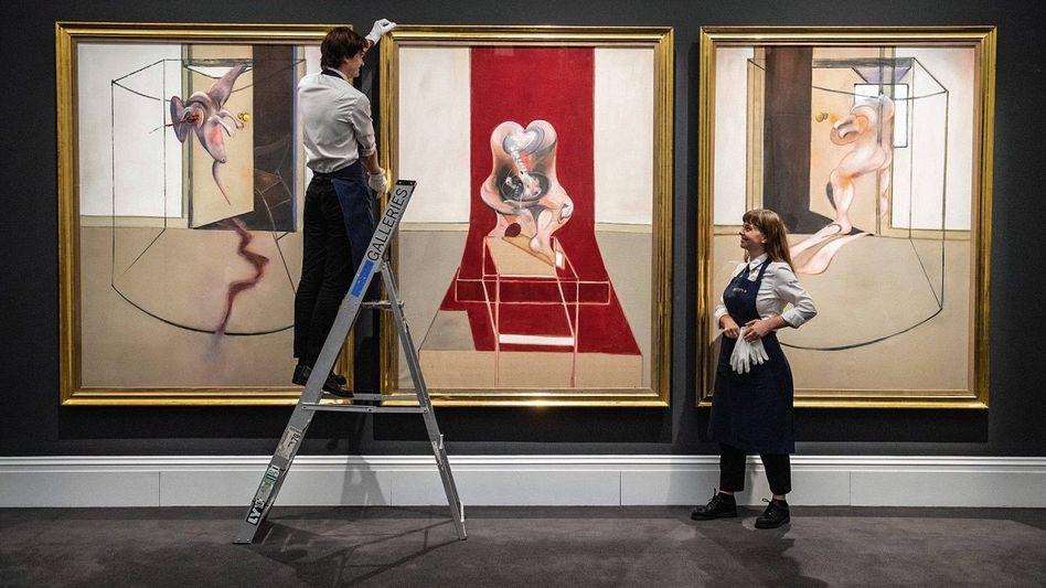 """Geht auch online: Francis Bacon, """"Triptychon von 1981"""" (84,5 Millionen Dollar, Sotheby's)"""
