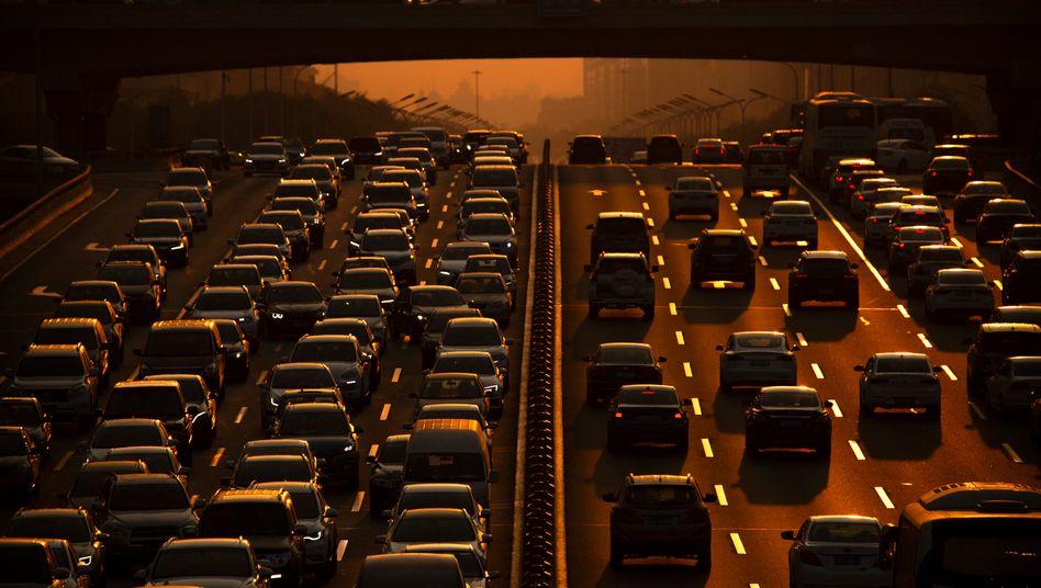 Stadtautobahn in Peking