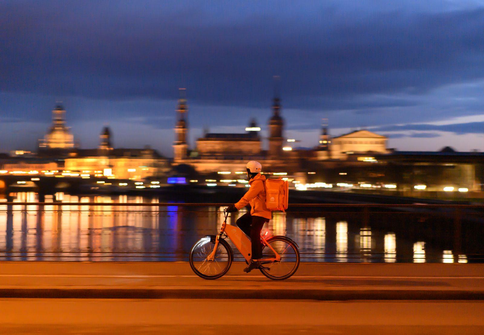 Lieferando Fahrer in Dresden