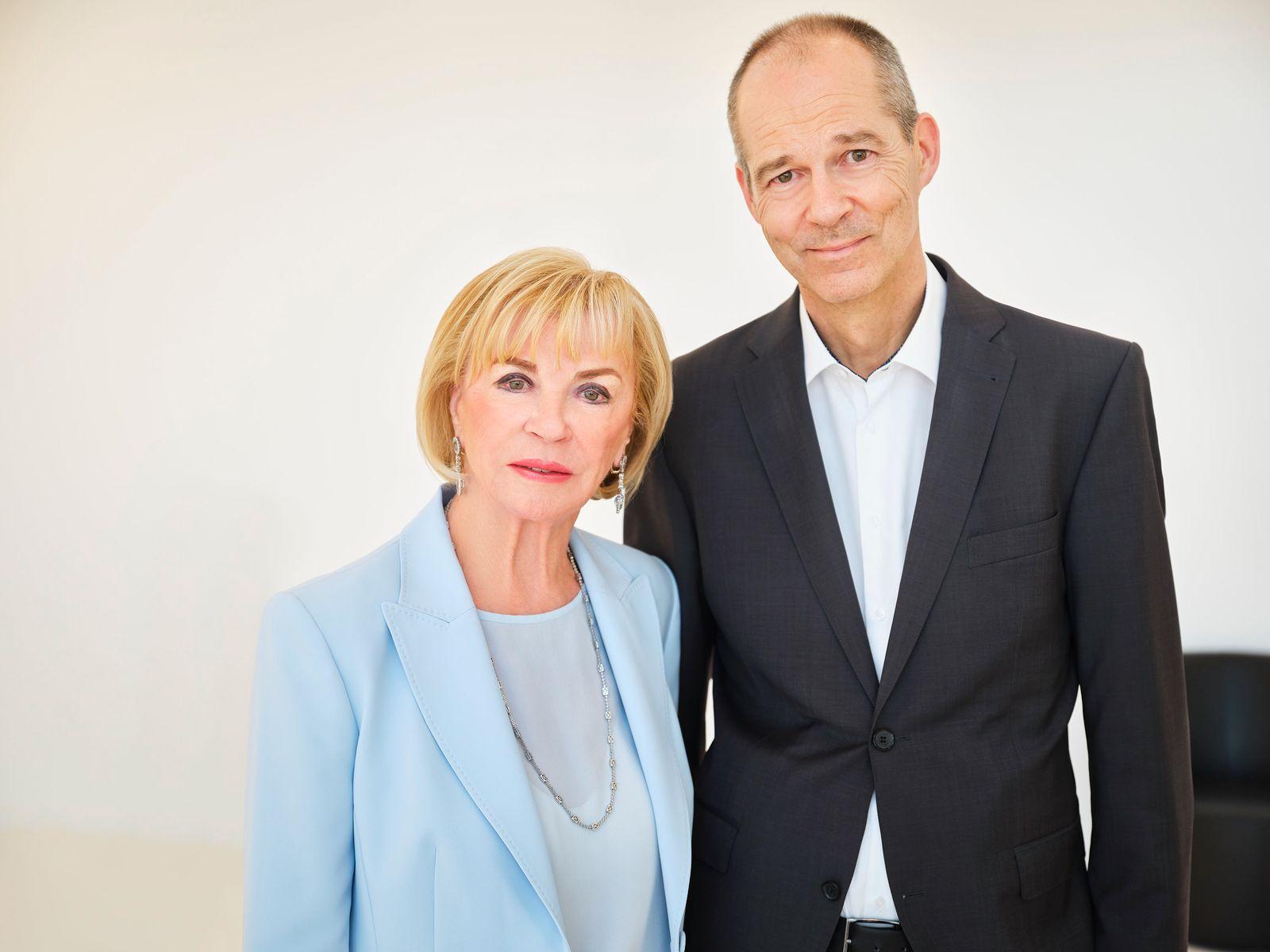Medienunternehmerin Liz Mohn und Sohn Christoph Mohn