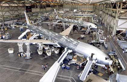 Schlechte Auslastung wegen fehlender Kassenschlager: Boeing-Zivilflugzeugproduktion