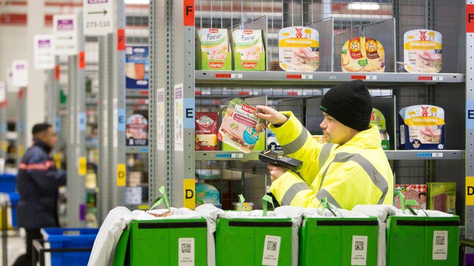 Amazon Fresh-Produkte im Kühllager