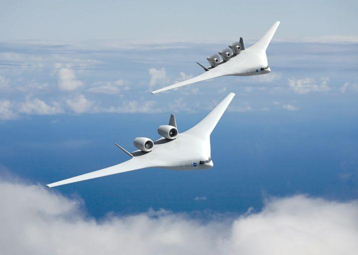 Konzept-Nurflügler von Boeing: Ursprünglich hieß es, ein derartiges Fluggerät sei 2025 startklar