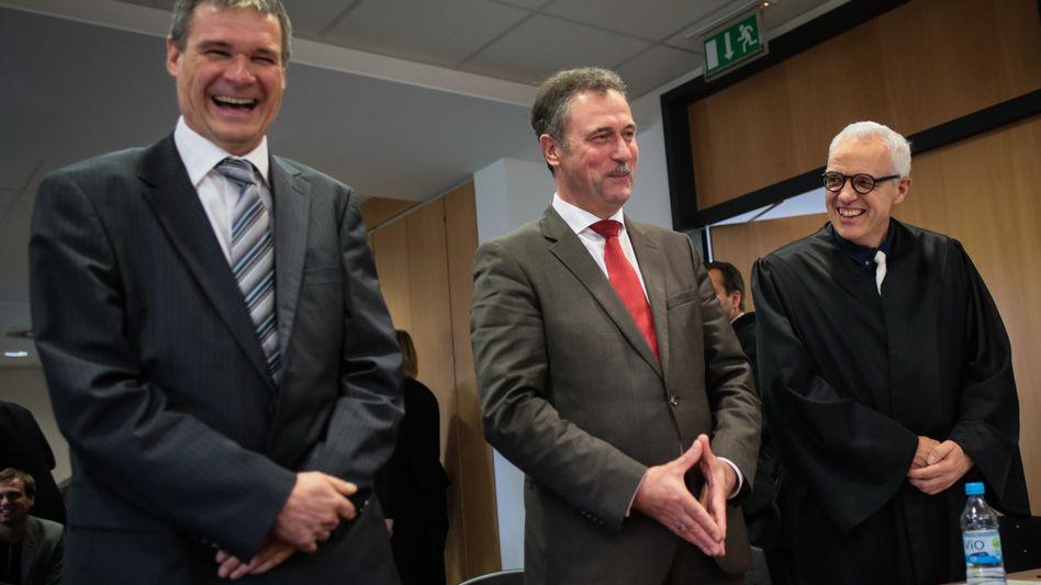 Claus Weselsky (Mitte): Erfolg auch in zweiter Instanz