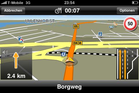 Navi und Telefon in einem: Navigon auf dem iPhone