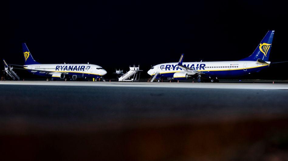 Ryanair-Flugzeuge im nordrhein-westfälischen Weeze