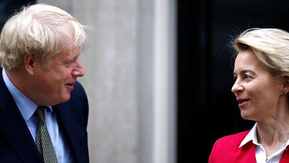 Johnson, von der Leyen: Erbitterter Streit um fairen Wettbewerb