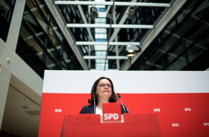Andrea Nahles: Die SPD-Chef will über die geplanten Transitzentren nachdenken