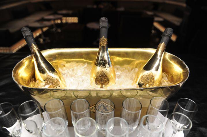 Pik-Ass: Armand-de-Brignac-Champagner in einem Kühler in New York