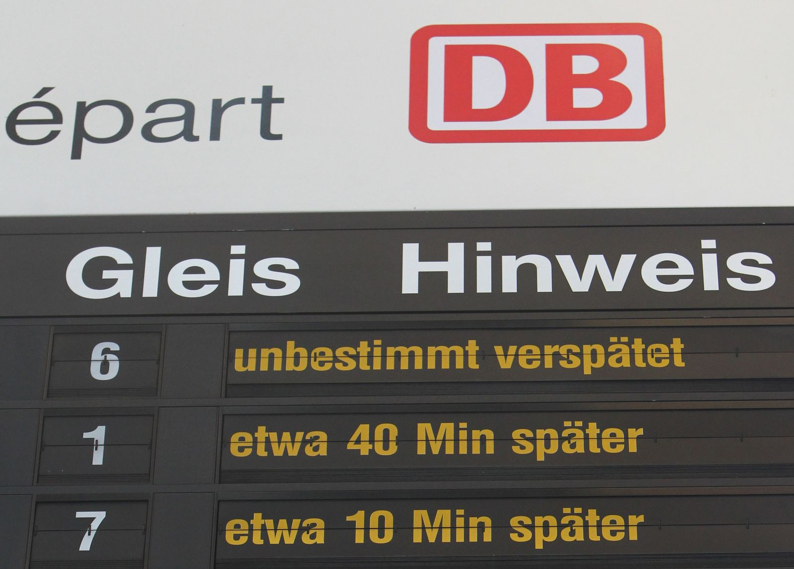 Verspätung/ Deutsche Bahn