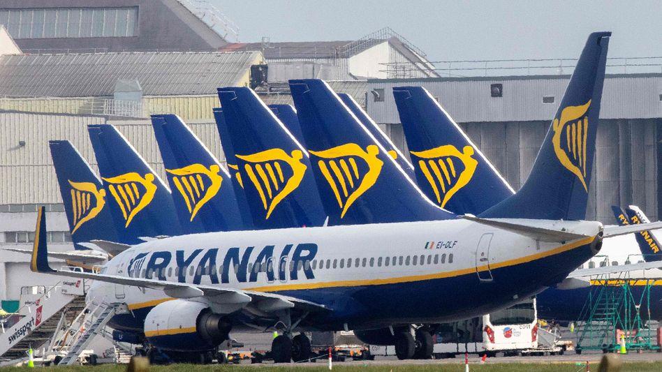 Ryanair-Maschinen in Dublin: Die irische Airline zieht gegen Hilfen für die Konkurrenz gerne vor Gericht