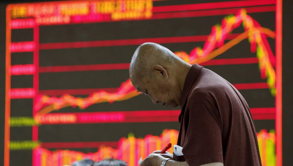 Schlechte Aussichten: In China sind die Aktienkurse wieder eingebrochen