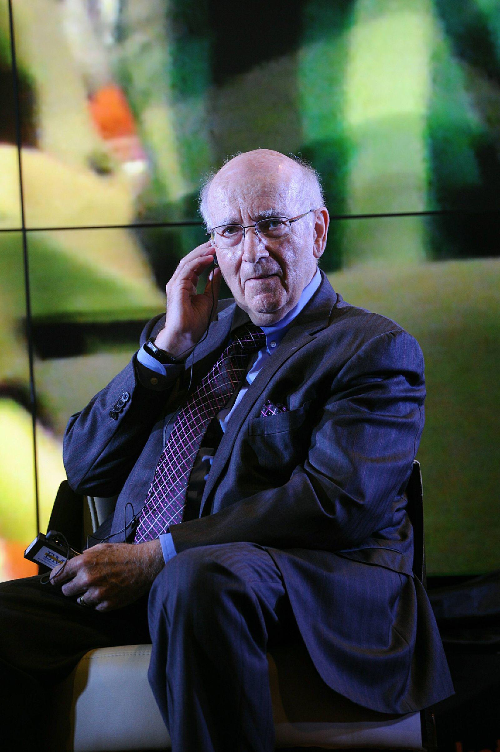 Marketing expert Philip Kotler during a news conference on the Kotler Awards at the Sokolniki Exhibi